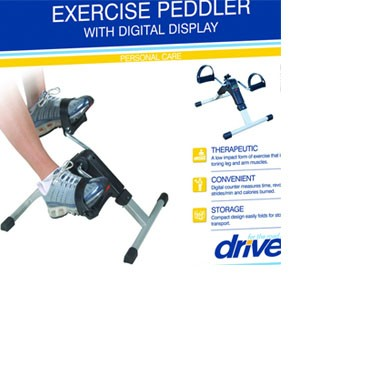 Exercise Peddler with Digital Electronic Display by Drive Medical