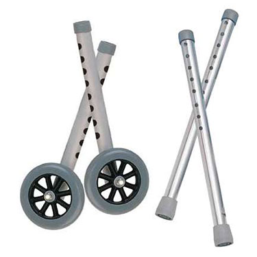 Extended Height 5 Inch Walker Wheels