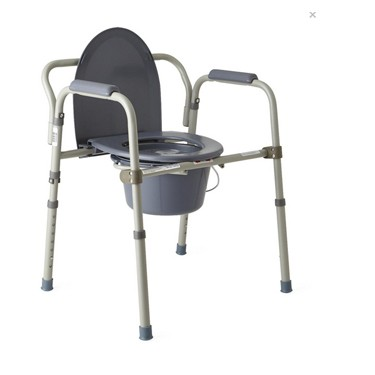 Folding Steel Commode by Medline