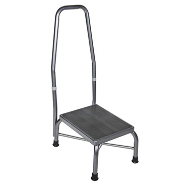 Footstool with Handrail and Non Skid Rubber Platform by Drive