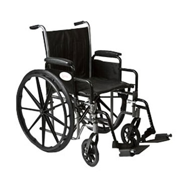 K2-Lite Wheelchair with Removable Desk-Length Arms by Roscoe Medical