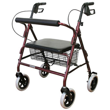 Karman Bariatric Rollator With Underseat Pouch (Aluminum, basket shown in image no longer available)