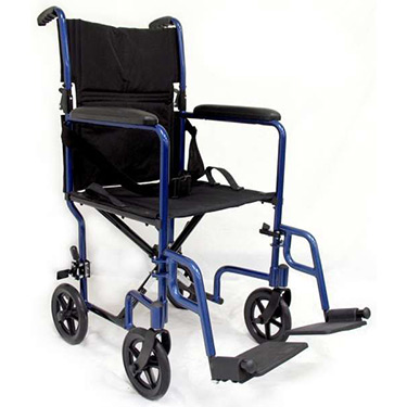 Karman Lightweight Transport Chair - Fixed Full Arms