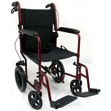 Karman Lightweight Transport Chair With Hand Brakes