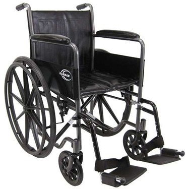 Karman Standard Steel Wheelchair (Fixed Full Arms)