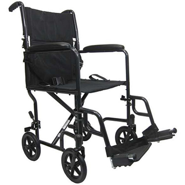 Karman Steel Transport Wheelchair - Fixed Full Arms