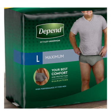 Depend for Men Fit-Flex Maximum Absorbency Underwear