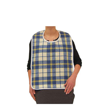 Lifestyle Flannel Bib - Water Repellent Lining, Snap Closure