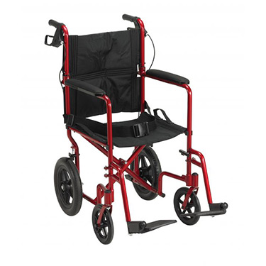 Expedition Lightweight Aluminum Transport Chair by Drive Medical