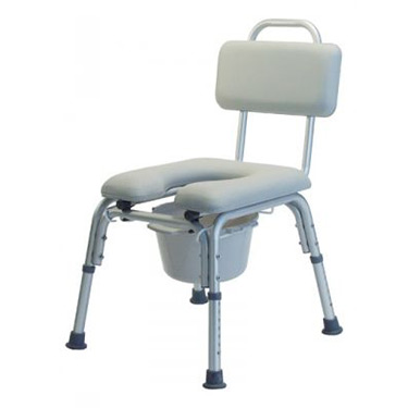 Lumex Platinum Collection Deluxe Padded Commode Bath Seat Without  Arms
