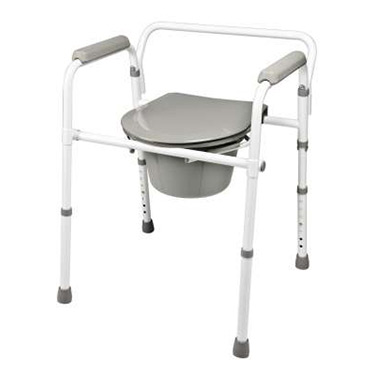 Lumex Steel Folding Commode