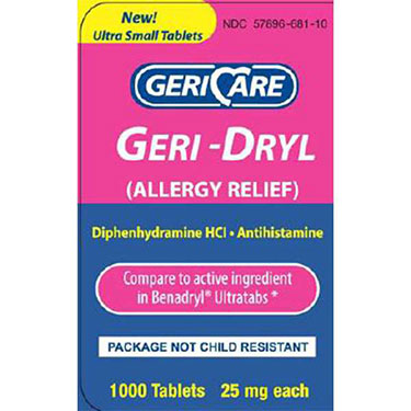 McKesson Allergy Relief Tablets 25MG 1000 ct