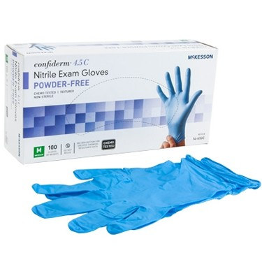 McKesson Confiderm 4.5C Nitrile Powder Free Chemo Tested Exam Glove