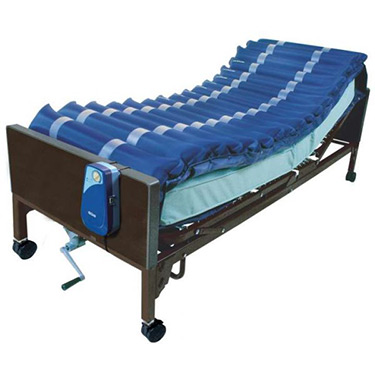 Med Aire Low Air Loss Alternating Pressure Mattress Overlay with Pump