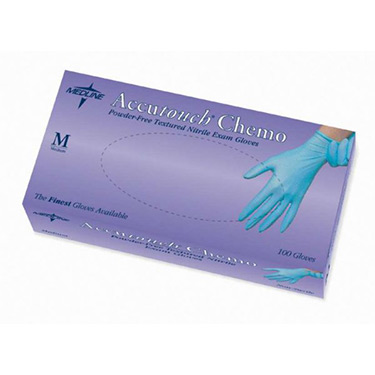 Accutouch Chemo - Blue Nitrile Gloves