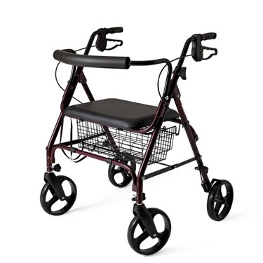 Medline Bariatric Rollator - 400 lb capacity