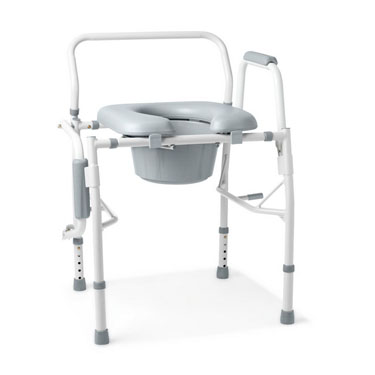 Medline Padded Drop Arm Commode