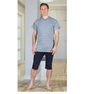 Men's Anti-Strip Jumpsuit with a Zipper-back, Short Legs, and Short Sleeves by 4Care