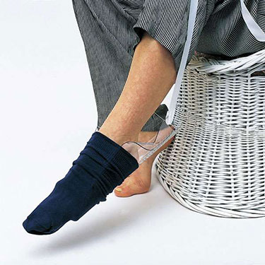 Molded Stocking Aid - No Bend Dressing, Side Cutouts Secure Socks