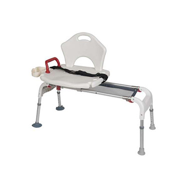 New Folding Universal Sliding Transfer Bench from Drive Medical