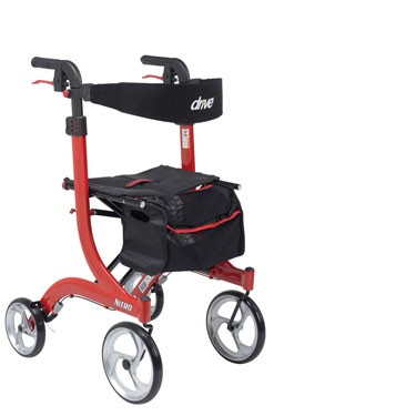 """Nitro Aluminum Rollator, Tall Height, 10"""" Casters by Drive Medical"""