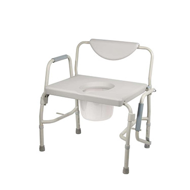 Heavy Duty Bariatric Drop Arm Bedside Commode Chair by Drive Medical