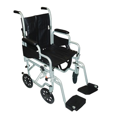 Poly-Fly Lightweight Travel Wheelchair/Transport Chair Combo by Drive