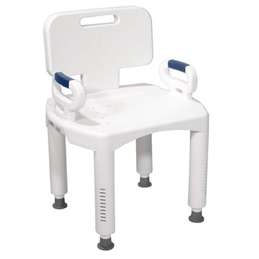 Premium Series Bath Bench with Back and Arms By Drive