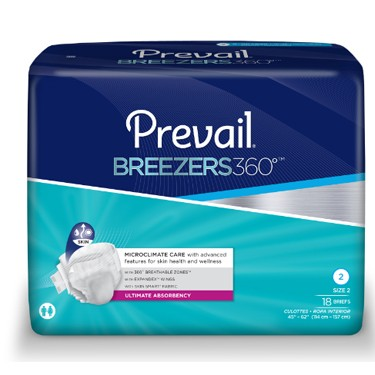 Prevail Breezers 360° Tab Closure Heavy Absorbency Adult Incontinent Brief