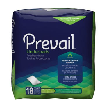 Prevail Moderate Absorbency Overnight Disposable Underpads
