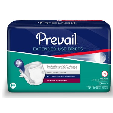 Prevail PM Extended Use Adult Incontinence Briefs