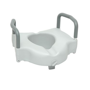ProBasics Raised Toilet Seat with Lock and Arms