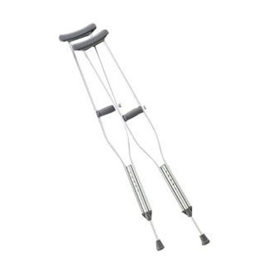 Push Button Adult Crutch by Cardinal Health