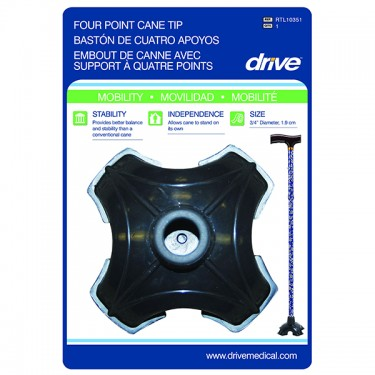 Quad-Support Cane Tip by Drive Medical