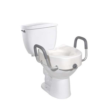 Raised Toilet Seat With Arms By Drive