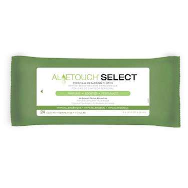 Aloetouch SELECT Premium Spunlace Personal Cleansing Wipes - Scented