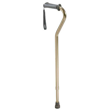 Rehab Ortho K Grip Offset Handle Cane in Bronze with Wrist Strap