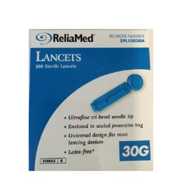 ReliaMed Safety Seal Universal Lancet 30G