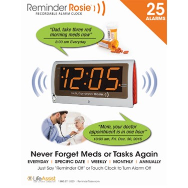 Reminder Rosie 25-Alarm Recordable & Talking Alarm Clock