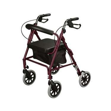 Contoured-Back Soft Seat Rollator by Cardinal Health