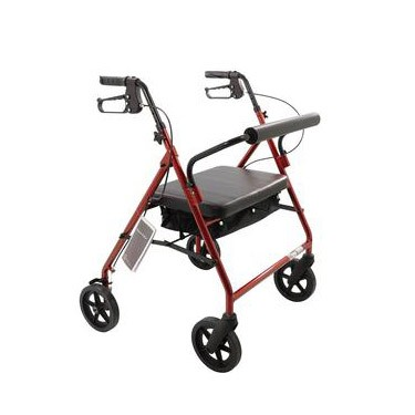 Roscoe Medical Bariatric Rollator with Padded Seat