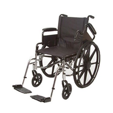 Roscoe Medical K4-Lite Swing Away Footrest Wheelchair with Flip Back Arms