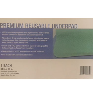 Securi-T USA Premium Brushed Polyester Reusable Underpad