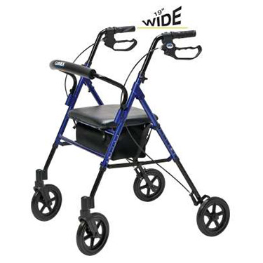 Lumex Extra Wide Set N Go Wide Height Adjustable Rollator