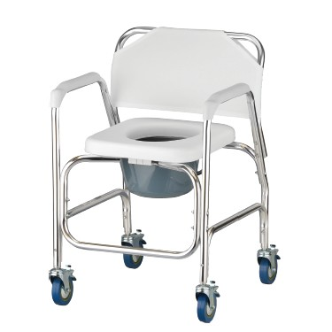 Shower Chair/Commode with Wheels by Nova
