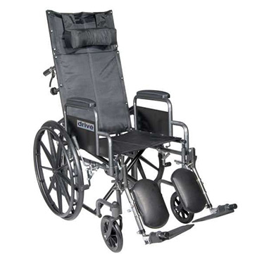 Silver Sport Reclining Wheelchair by Drive