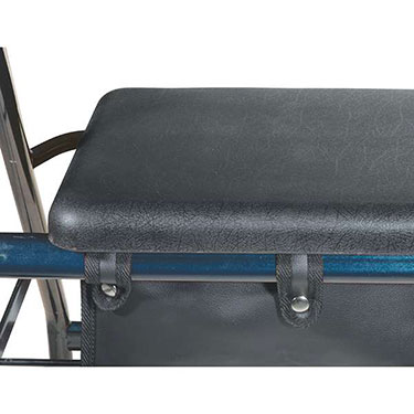 Drive Medical Aluminum Rollator Walker with Fold Up Padded Seat and Removable Back Support