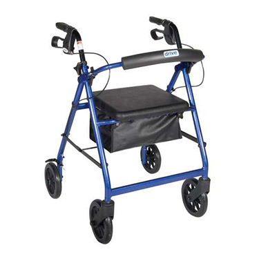 Drive Lightweight Aluminum Indoor/Outdoor Soft seat Rollator with large 7.5