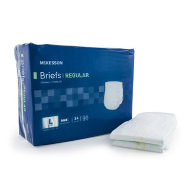 McKesson Regular Moderate Absorbency Incontinence Brief