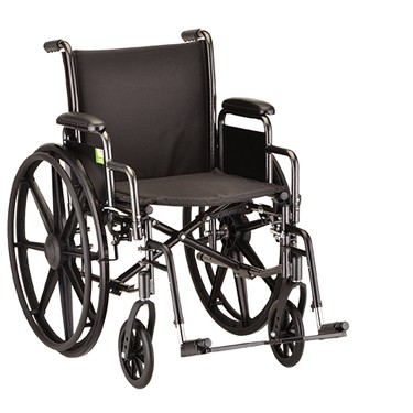 Steel Wheelchair with Desk Arms and Swing Away Footrest by Nova